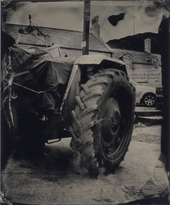 Tractor Tyre Saltburn, Tintype, MPP 5X4 Technical camera, Kodak single element lens,