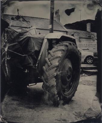 Tractor Tyre Saltburn, Tintype, MPP 5X4 Technical camera, Kodak single element lens,
